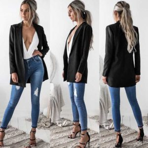 Long Blazer Jacket Fashionwear